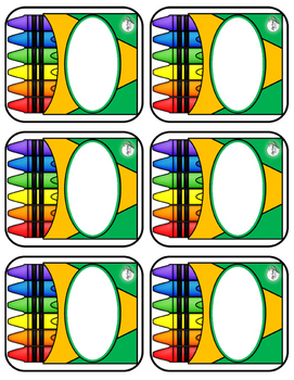 **Get Ready for BACK TO SCHOOL with CRAYON BOX LABELS!!**