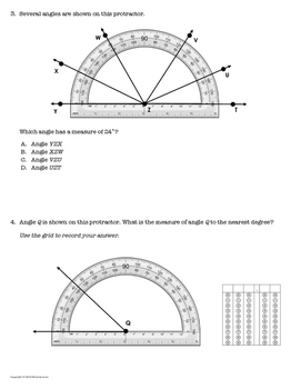 *Get STAAR Ready!* Mastery Quiz: Measure Angles with Protractors {TEKS 4.7C}