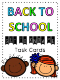 """Get To Know Me"" Back to School Task Cards"