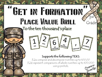 """Get in Formation"": A Kinesthetic Place Value Activity: Math TEKS 3.2a, 3.2d"