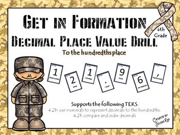 """""""Get in Formation"""": A Kinesthetic Decimal Place Value Game: Math TEKS 4.2b, 4.2f"""