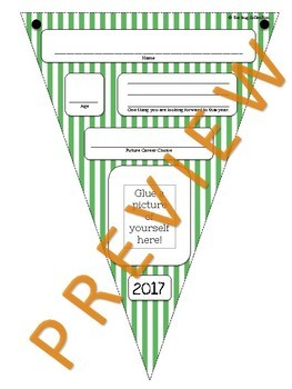 """""""Get to Know Me"""" Pennant Banner"""