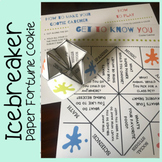 """""""Get to Know You"""" Icebreaker Activity (Paper Fortune Teller)"""