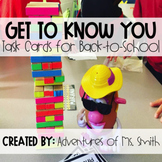 """""""Get to Know You"""" Task Cards for Back-to-School"""