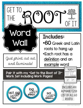 """""""Get to the Root of It"""" Word Wall - Greek and Latin Roots"""