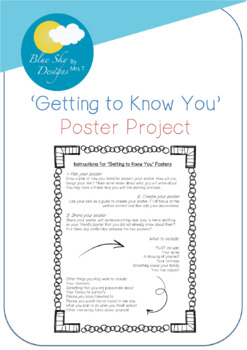 'Getting To Know You' Posters