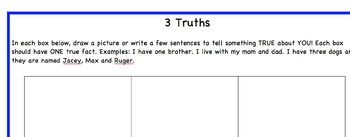 """Getting to Know You"" Activities and Worksheets"
