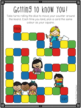 *Getting to Know You!* Board Game For the First Day of School