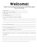 """Getting to Know You"" Student Questionnaire"
