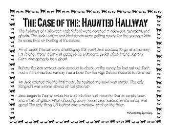 """Ghoulty As Charged"" Halloween Inferencing activity"