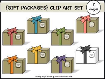 {Gift Packages} Clip Art Set: 8 Images