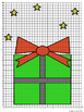 """Gift of Joy"" Christmas Coordinate Graph Freebie"