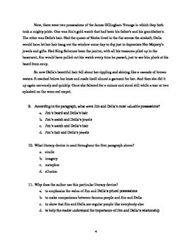 """""""The Gift of the Magi"""" Short Story Reading Test"""