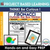 Fibonacci Project Based Learning | STEM Activities | Math Games