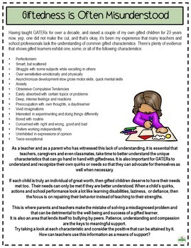 ** Gifted and Talented - Giftedness and Brain Friendly Learning **