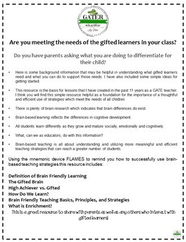 Gifted and Talented - Giftedness and Brain Friendly Learning