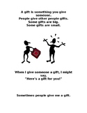 """""""Gifts"""" Social Story"""