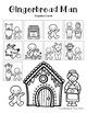"""Gingerbread Man"" Math, Literacy and Craftivity"