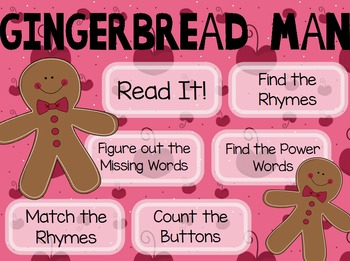 """Gingerbread Man"" Poem of the Week Flipchart for ActivInspire"