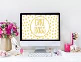 """Girl Boss"" Desktop Wallpaper"
