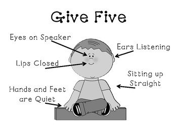 """""""Give Five"""" Sign"""