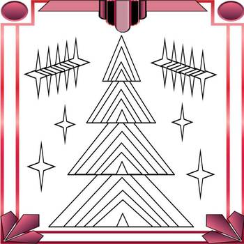 #Giving Tuesday Free Art Deco Christmas Trees Coloring Page