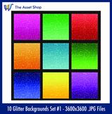 'Glitter Backgrounds' Set #1 (Digital Clip Art)