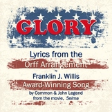 """New Rap lyrics for song, """"Glory,"""" from movie, Selma."""