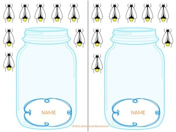 "Classroom Management System (""Glowing"" Good Behavior Jar & Fire Fly set)"
