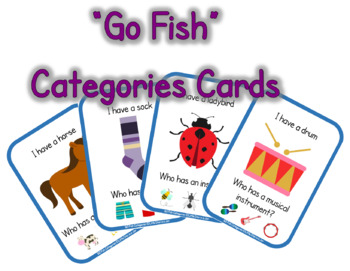 """Go Fish"" Categories Cards"