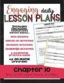 {Go Math - Third Grade} Engaging Lesson Plans - Chapter 10