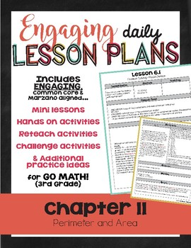 {Go Math - Third Grade} Engaging Lesson Plans - Chapter 11