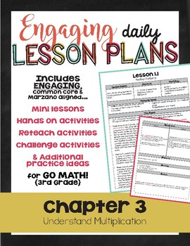 {Go Math - Third Grade} Engaging Lesson Plans - Chapter 3