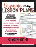 {Go Math - Third Grade} Engaging Lesson Plans - Chapter 6