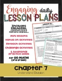 {Go Math - Third Grade} Engaging Lesson Plans - Chapter 7