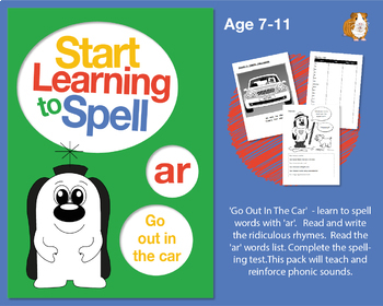 'Go Out In The Car' Spell Words With 'ar': Learn To Spell With Phonics 7-11