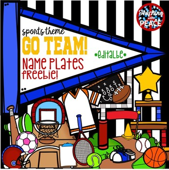 """Go Team!"" Sports Themed Name Plates *Freebie*"