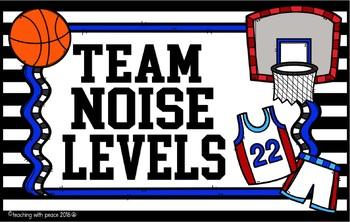 """""""Go Team!"""" Sports Themed Noise Level Chart  *editable*"""