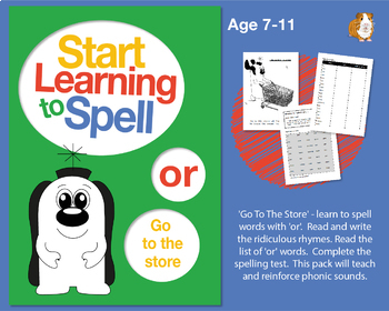 'Go To The Store' Spell Words With 'or': Learn To Spell With Phonics 7-11