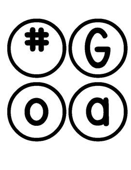 #GoalGetters Bulletin Board Letters