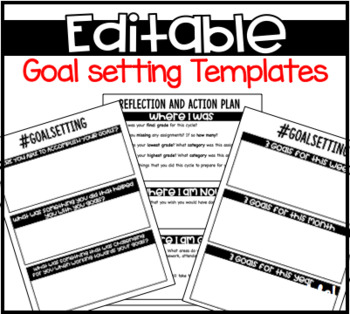 Goals Goal Setting Reflection And Action Plan For Students