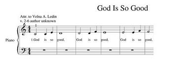 """""""God Is So Good"""" Song Arrangement For Beginner Piano Players"""