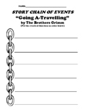 """""""Going A-Travelling"""" Brothers Grimm Story Chain of Events Worksheet"""