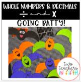 """Going Batty"" Math Craft (multiplying & dividing whole num"