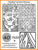 """Goldfish"" by Matisse COLLABORATIVE Activity Coloring Pages"