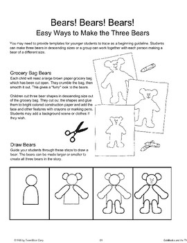 """Goldilocks and the Three Bears"": End-of-Unit Activities"