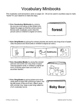 """Goldilocks and the Three Bears"": Making Books"