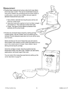 """Goldilocks and the Three Bears"": Math Activities"