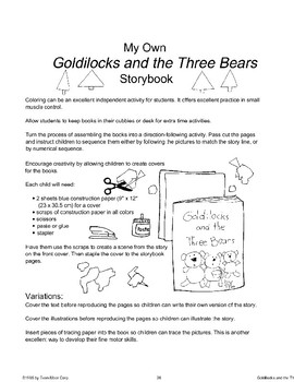 """""""Goldilocks and the Three Bears"""": Other Ways to Use the Story"""