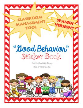 """Good Behavior"" Sticker Book (SPANISH)"